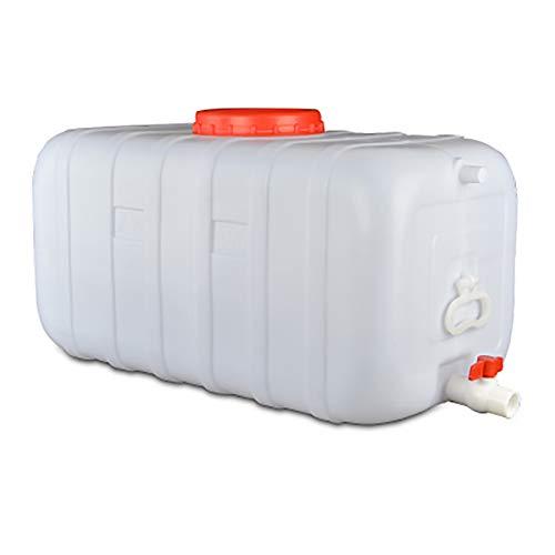 garrafas de plastico Cubo de plástico cubo grande espesado de grado alimenticio con una tapa for el tanque de almacenamiento de agua en los hogares gran bañera cuadrada buque tanque de agua blanca