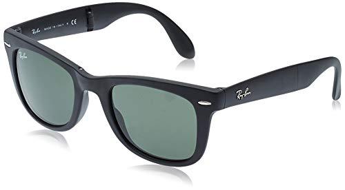 Ray-Ban Unisex Sonnenbrille RB4105, Einfarbig, 50 mm, Schwarz (schwarz/ klassisch grün)