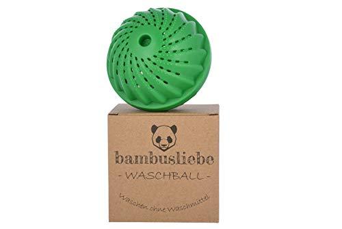 bambusliebe Eco Waschball - DAS ORIGINAL - Waschen ohne Waschmittel - Nachhaltig, umweltschonend, antibakteriell, vegan, langlebig - Ohne Tenside & Phosphate - Auch für Allergiker - Zero Waste