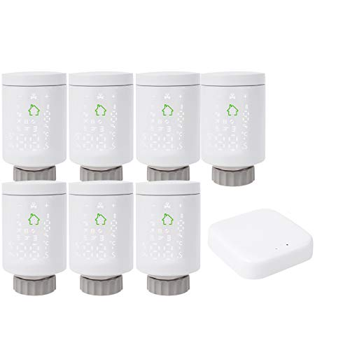 termostato wifi usb BIlinli HY368 WiFi Zigbee3.0 TRV Termostato - Valvola termostatica Radiatore Controller Riscaldatore Google-Home Alexa Voice & App Remote Control