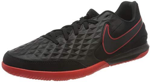 Nike Legend 8 Academy IC, Zapatillas de Futsal Hombre, Black Dk Smoke Grey Chile Red, 43 EU