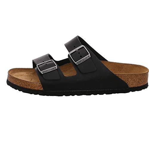 Birkenstock Schuhe Arizona SFB geöltes Nubukleder Weichbettung Normal Black (752481) 39 Schwarz