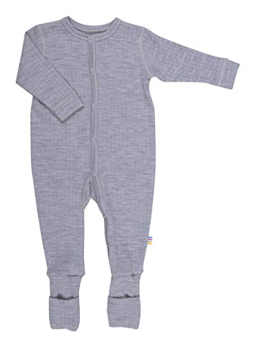 Joha Joha Baby Unisex Schlafoverall aus Reiner Merino-Wolle, Größe:98-104, Farbe:grau Melange