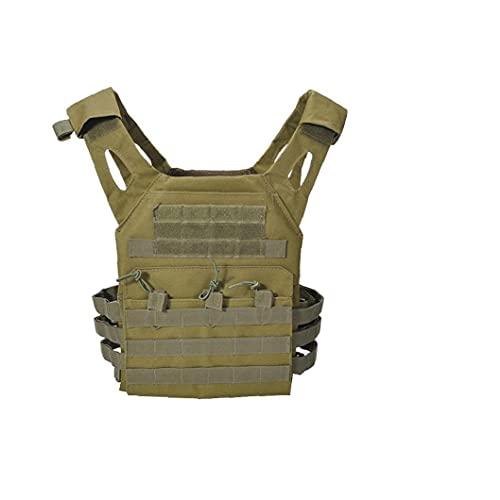 hábil en el Pecho del Chaleco de Camuflaje Airsoft Molle Chaleco Protector de Pecho para Actividades al Aire Libre Tamaño Libre Verde del ejército, Equipo al Aire Libre