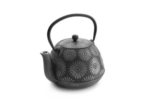IBILI Teekanne-Set Oriental-Bali 1,2 l aus Gusseisen, grau, 18 x 18 x 10 cm, 3-Einheiten