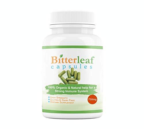Bitter leaf capsules - 100% Natural & Organic 90 Capsules - 1 Bottle