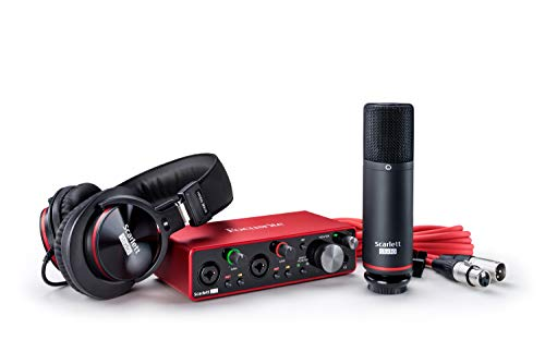 Focusrite Scarlett 2i2 Studio (3rd Gen) USB Audio Interface and Recording Bundle with Pro Tools | First