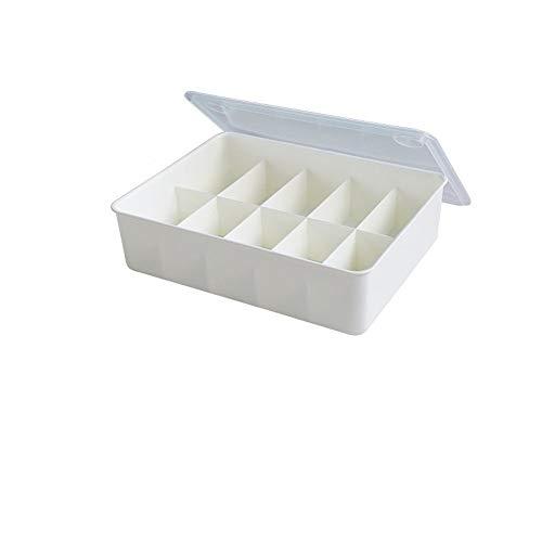 Cb.Storage Box C-Bin-1 ondergoed opbergdoos, beha broekje sokken opbergdoos woonkamer kledingkast slaapkamer opbergdoos met afdekking rooster die dagelijks nodig is.