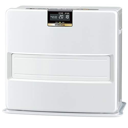 CORONA(コロナ) 石油ファンヒーター (木造19畳 / コンクリート26畳 まで) 消臭シャッター プレミアム消臭機能 パワフル暖房 大型液晶パネル 足もと温風 ホワイト FH-VX7319BY(W)