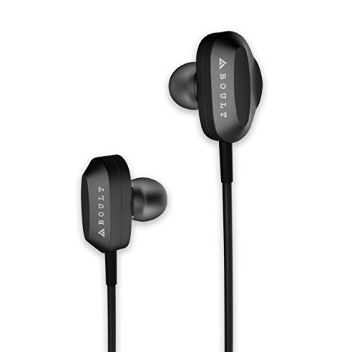 Boult Audio Bass Buds X2 in-Ear Dual Driver Wired Earphones with Microphone and Deep Bass, Headset with Noise Cancellation & HD Sound Mobile (Black)