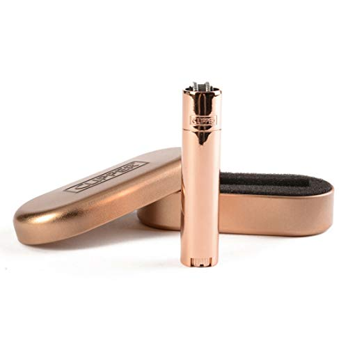 [Limited Edition] Rose Gold Metal Clipper Lighter with Case by Lizzy® by Clipper