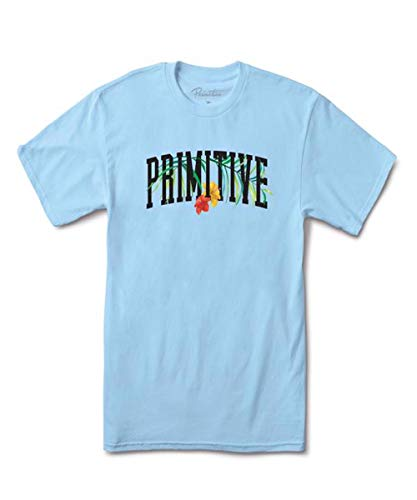 Primitive Mens Palms T-Shirt, Pacific Blue, L
