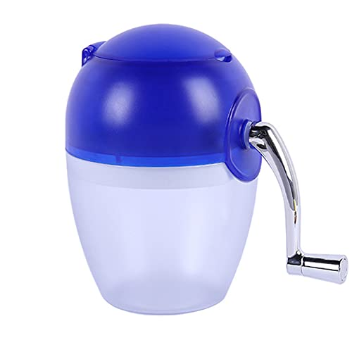 JMSB Manual Ice Crusher- Portable Hand Crank Ice Crusher Machine - for Homeblender Smoothie Makers Cocktail Manual Rotary Action,Blue