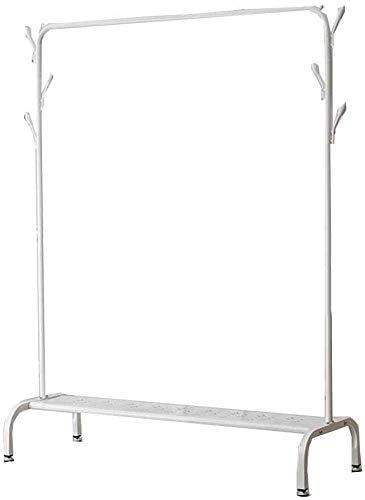 FVGH Metalen enkelpolige dubbelzijdige kapstok Met opbergruimte Dubbele haak Multifunctionele Hangers Moderne eenvoud Slaapkamer woonkamer Wit