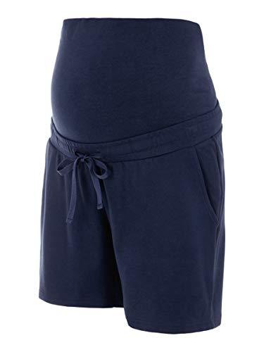 Mamalicious Mllif Jersey Shorts A. Pantaloncini, Giacca Blu Scuro, XL Donna