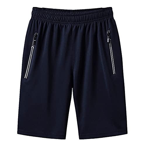 Los hombres de verano más el tamaño pantalones cortos delgados ocasionales deportes fitness sólido corto