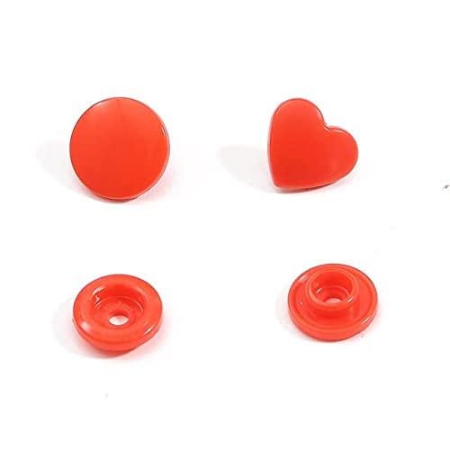 Landia 10/20sets Corazón/Estrella en forma de T5 Botones de Cierre de Botones de Plástico Accesorios de Ropa Para Ropa de Bebé Clips Botones de Costura