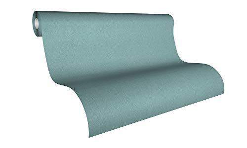 Livingwalls Vliestapete Colibri Tapete Uni 10,05 m x 0,53 m blau grün Made in Germany 366285 36628-5