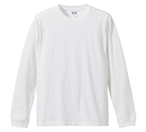 (ユナイテッドアスレ)UnitedAthle 5.6オンス 長袖Tシャツ(1.6インチリブ) 501101 [メンズ] 001 ホワイト M