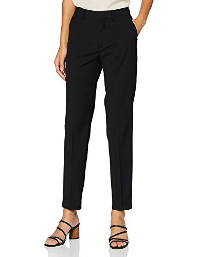 Scotch & Soda Lowry' Tailored Slim Fit Classic Pants Short, Black 0008, 32 Femme