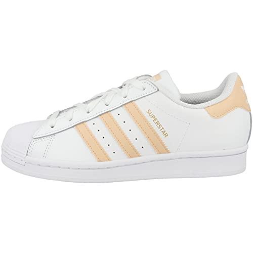 adidas Superstar, Zapatillas Deportivas Hombre, FTWR White Glow Orange Glow Pink, 36 EU