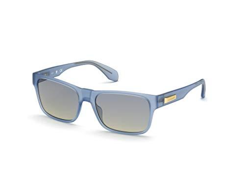 adidas Herren OR0011 Sonnenbrille, matte blue/gradient smoke, 57