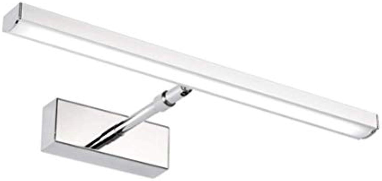 WB_L Spiegellampen LED-Spiegel-Scheinwerfer, moderner minimalistischer Edelstahl-LED-Spiegel-Scheinwerfer-einziehbares Badezimmer-Badezimmer-Spiegel-Kabinett beleuchtet (Farbe   Weies Licht-40 cm)