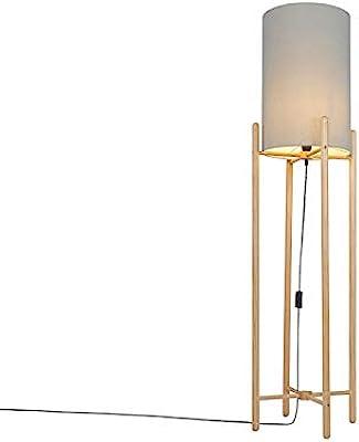 Qazqa Lampadaire | Lampe sur pied Rustique - Lengi Lampe Gris Beige - E27 - Convient pour LED - 1 x 25 Watt