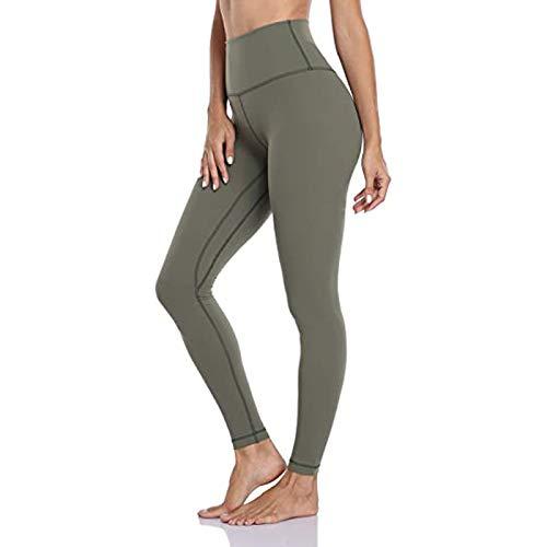 SHOBDW Pantalones Mujer Sólido Push Up Leggings Medias Cintura Alta Estiramiento Entrenamiento...