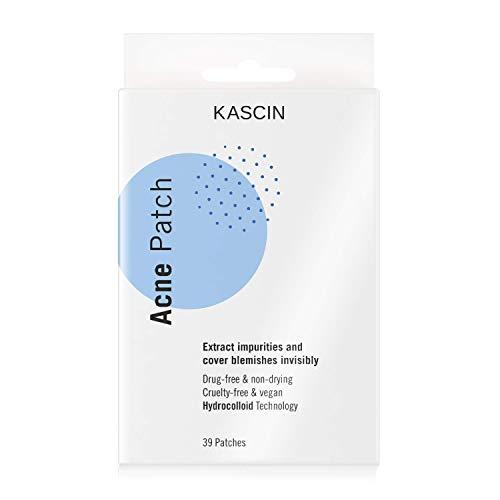 KASCIN Pickel Patch Hydrocolloid - 39 Akne Patches - Made in Korea - Pimple Acne Patch Pflaster in zwei Größen: 24 x 12mm Ø und 15 x 10mm Ø