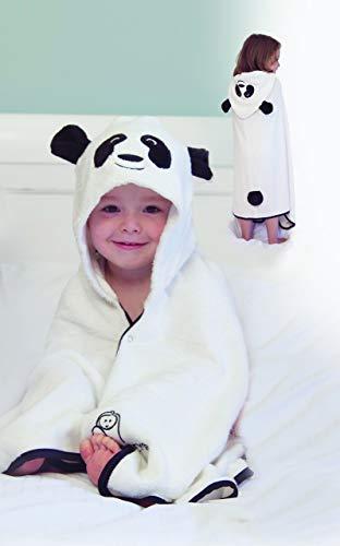 Cuddledry - Toalla panda bebé multicolor negro blanco