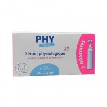 Suero Fisiológico PHY Bebé Monodosis 45 uds x 5 ml
