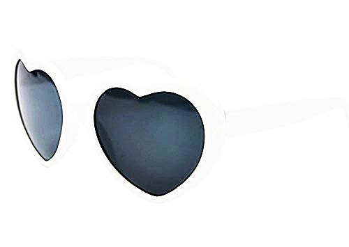 Occhiali da Sole Cuore - Donna - Lolita - Polarizzati Uv400 - Bianco - Idea Regalo Natale e Compleanno