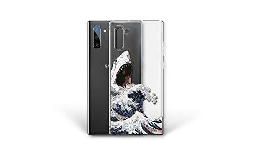 Kaidan Shark on Kanagawa Wave Samsung Galaxy S10e Case S21 S20 FE S8 S9 S10 + The Great Wave Note 20 Ultra 10 Plus 9 8 Compatible Google Pixel 5 4 iPhone 12 Mini 11 Pro XS Max X XR SE 7 6 Hokusai s201