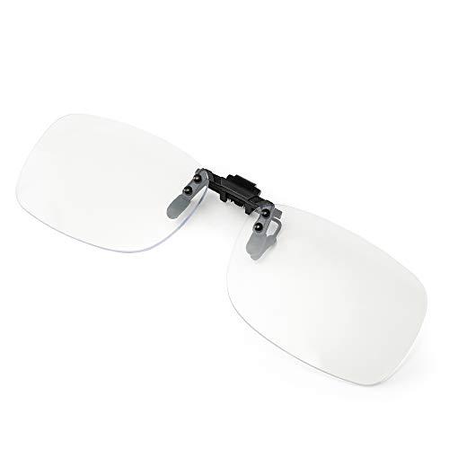 Cyxus Brillenglas Klare Clip on Brille – Blaues Licht Blockien von PC,Handy, Bildschirm, Gaming Computer Brille Blaulicht Schutzbrille - Digitale Kopfschmerzen und Augenschmerzen zu Erleichtern