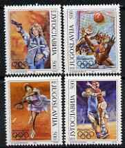 Yugoslavia 1992 Barcelona Olympics set of 4 u/m, SG 291-94 OLYMPICS POLO SHOOTING TENNIS HANDBALL JandRStamps