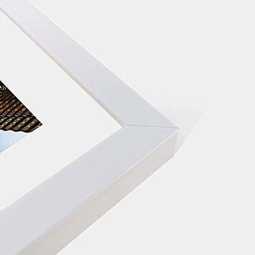 HIMFL Marco de madera maciza para rompecabezas/fotos/carteles, 300/500/1000/1500/2000 piezas, accesorio para montaje en pared, regalo de boda de cumpleaños