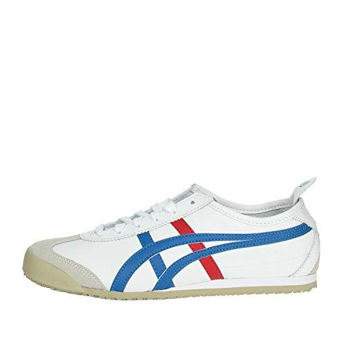 Onistuka Tiger Mexico 66 Unisex-Erwachsene Sneakers, Weiß (WHITE/BLUE 0146),44 EU