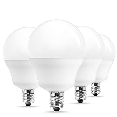 JandCase LED Globe Light Bulbs Candelabra Base