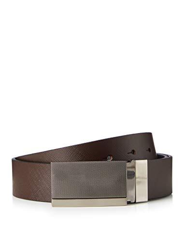 Marca Amazon - find. Cinturón Reversible Hombre, Multicolor (Black/Brown (3405)), M, Label: M
