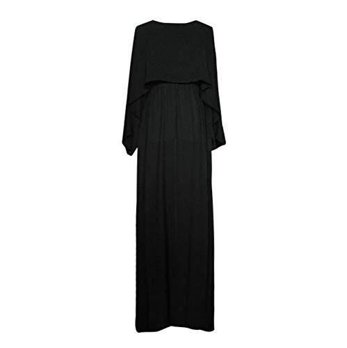 Vintage Vrouwen Abaya Lange Jurken - Dames Dre Arabische Jilbab Moslim gewaad Lange Mouw Effen Islamitische Kaftan Dubai Maxi Jurk
