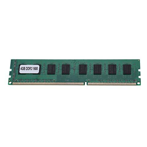 Wendry Memoria DDR3, RAM RAM de Memoria DDR3 de 4 GB con Placa Base AMD, RAM de Memoria para PC de Escritorio de 1600MHz, Rendimiento Estable y Funcionamiento a Alta Velocidad