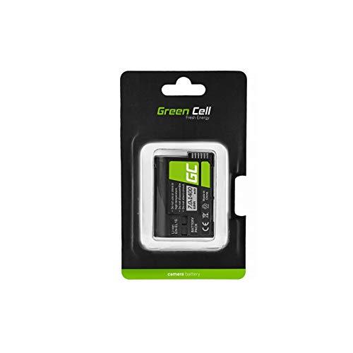Green Cell EN-EL15 EN-EL15A - Batería para cámara Nikon 1 V1 D500 D7000 D7100 D800 D810 MB-D11 MB-D12 MB-D14 (1400 mAh, 7 V), Color Negro