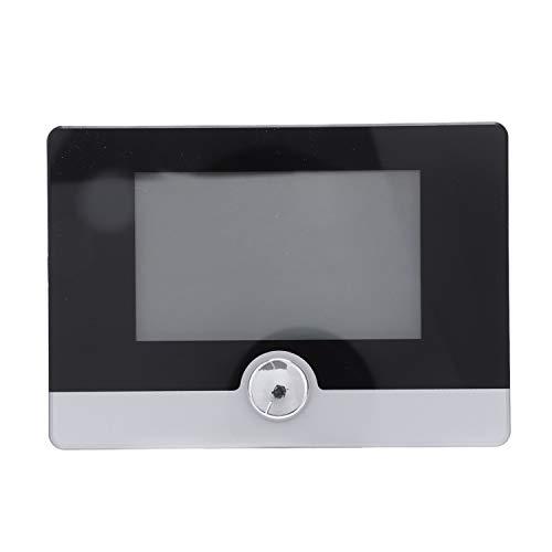Facibom Termostato digital programable controlador de temperatura para sistema de calefacción de caldera colgado en la pared, color negro
