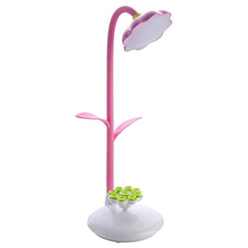 Form LED Schreibtischlampe mit Telefonhalter und Power Bank Touchschalter Dimmer Lesung 1200mAh wiederaufladbare Tischlampen