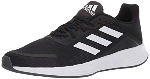 adidas Women's Duramo SL Running Shoe, Black/White/Grey, 9