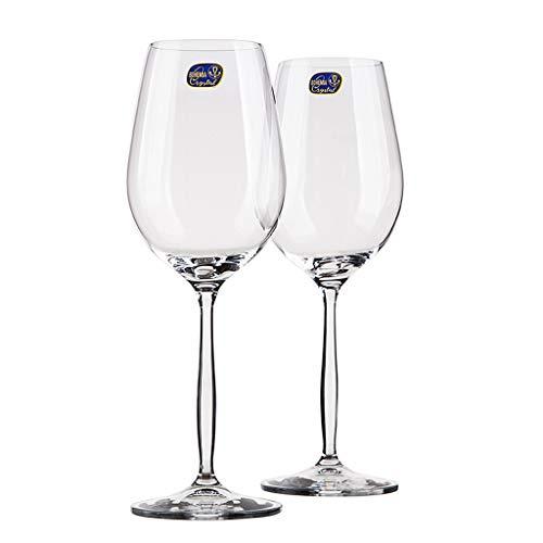 Verre à Vin Rouge Importé à La Maison Hôtel 2 Ensembles de Boîte Cadeau Gobelet Gobelet en Verre de Cristal de Bohême Tchèque de Haute Qualité (6-500 Ml - Va Au Lave-vaisselle)