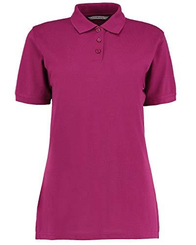 Kustom Kit Damen Poloshirt Klassisch Piqué, Arbeitskleidung, kurze Ärmel Gr. 34, magenta