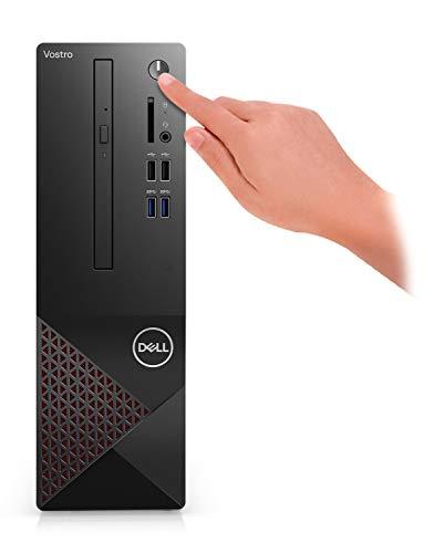 2021 Newest Dell Vostro (Better Than Inspiron) 3000 Series 3681 SFF Desktop PC, Intel Core i3-10100 Quad-Core Processor, 8GB RAM, 128GB SSD + 1TB HDD, Wi-Fi, HDMI, VGA, DVD, Windows 10 Pro, Black