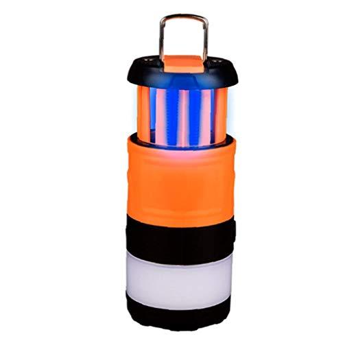 Berrywho Camping Lanterna con Bug Zapper, 3 in 1 Stretchable LED Lanterna Luce di Campeggio - 5 Modi di luminosità Camping Lampada-Ricaricabile Lantern- Ideal Camping Accessori
